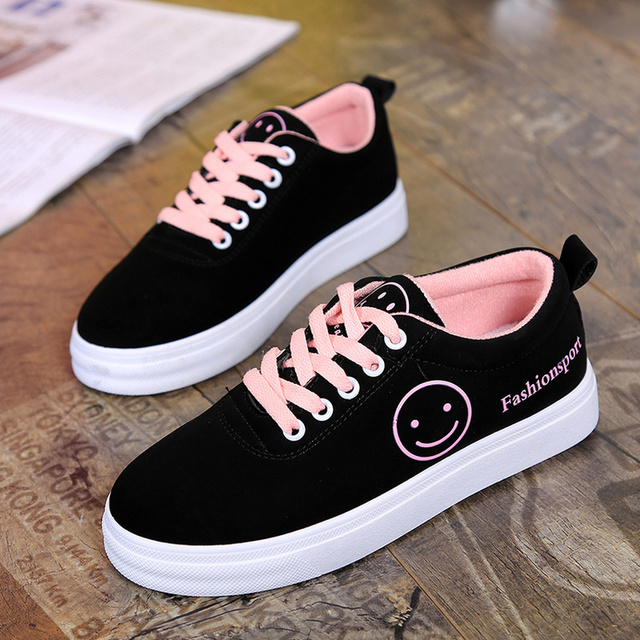 60e24f608039 Autumn new women's flat shoes Korean version of the wild student casual  shoes fashion black single shoes