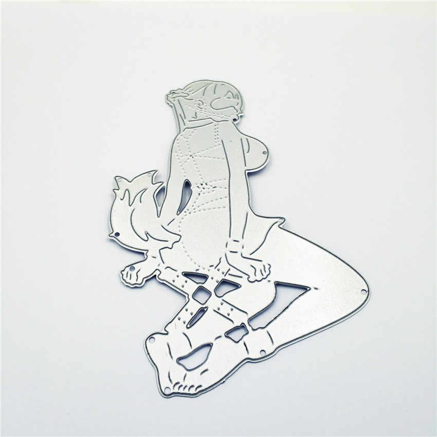 PANFELOU Spice Ligamento raposa sexy girl metal artesanato corte de papel morre morre Scrapbooking/DIY Hallowmas molde Embossing cartões edding
