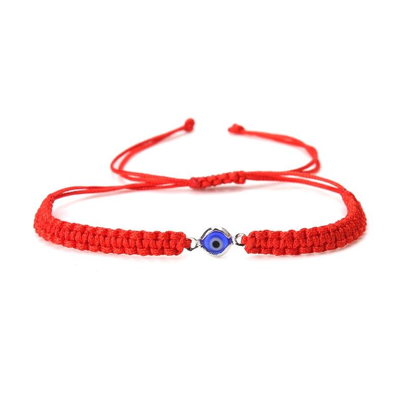 1 string/lot red /black thread Braided stretch adjustable evil eye bracelet & bangle for women diy evil eye bracelet gift
