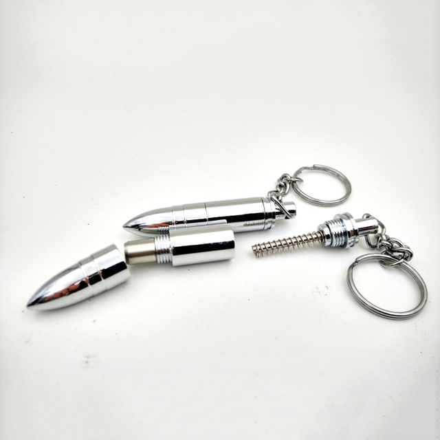 COSY MOMENT Cigar Punch Cutter With Key Ring Chain Bullet Style Draw Hole Cut