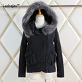 New Winter Women Jacket Medium-long Thick Outwear Hooded Wadded Coat Slim Parka Cotton-padded Jacket Overcoat with Zipper Pocket