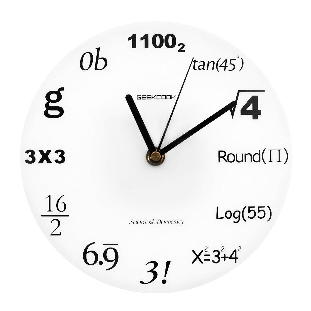 Science Democracy Pop Quiz Math Wall Clock Algebra
