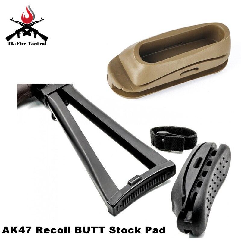 Tactique Airsoft élément antichoc en caoutchouc AK Stock Pad AK47 recul bout à bout Stock Pad Paintball fusil fusil accessoire livraison gratuite