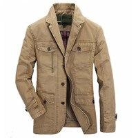 새로운 남성 캐주얼 브랜드 코튼 재킷 재킷 남성 봄 정장 코트 남성 블레이저 재킷 코트 카키 육군 녹색