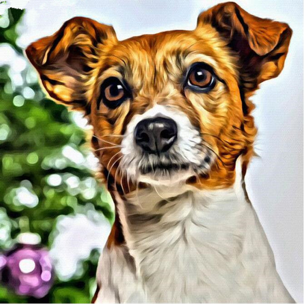 54aa8d7f0 Diamante Bordado 5D Pintura Animal Bonito Do Cão Pintura Diamante do Ponto  da Cruz de Strass Diamante Mosaico presente de Natal YZ257