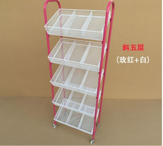 Small boutique shelves. Wrought iron nail polish shelf. Four layers trolley umbrella stand