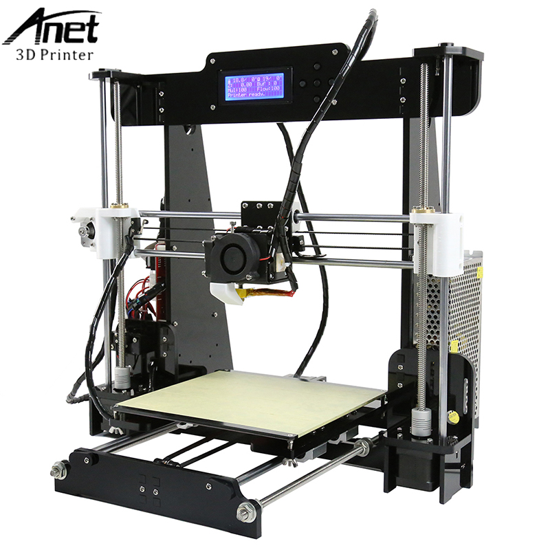 цена на Easy Assemble A2&Anet A6&A8&A3S 3D Printer Big Size High Precision Reprap i3 DIY 3D Printing Machine+Hotbed+Filament+SD Card+LCD