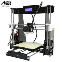 Easy Assemble A2&Anet A6&A8&A3S 3D Printer Big Size High Precision Reprap i3 DIY 3D Printing Machine+Hotbed+Filament+SD Card+LCD