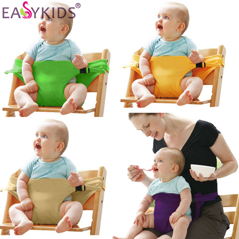 Portable Infant Chair Seat Dining Lunch Seat Safety Belt Stretch Wrap Feeding Chair Harness baby Booster Seat baby feeding Gift (2)