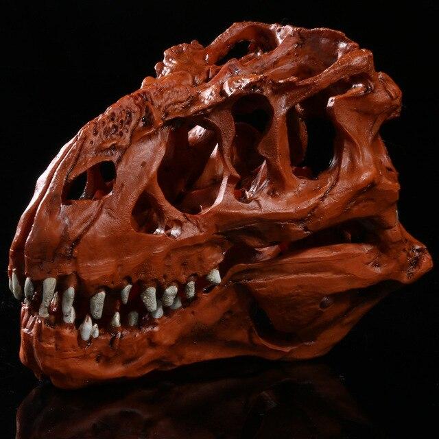Simulation Resin Crafts Home Decorations Accessories Furnishings Exhibition  Tyrannosaurus Dinosaur Skull Study Model
