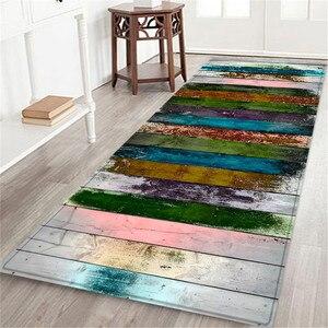 Image 5 - Alfombra de baño con estampado marino de 60x180 CM, felpudo antideslizante para pasillo, tapete de cocina con agua absorbente