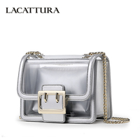 LACATTURA Luxury Handbags Mini Transparent Jelly Bag Women Messenger Bags Ladies Chain Shoulder Bag Fashion Crossbody for Girls