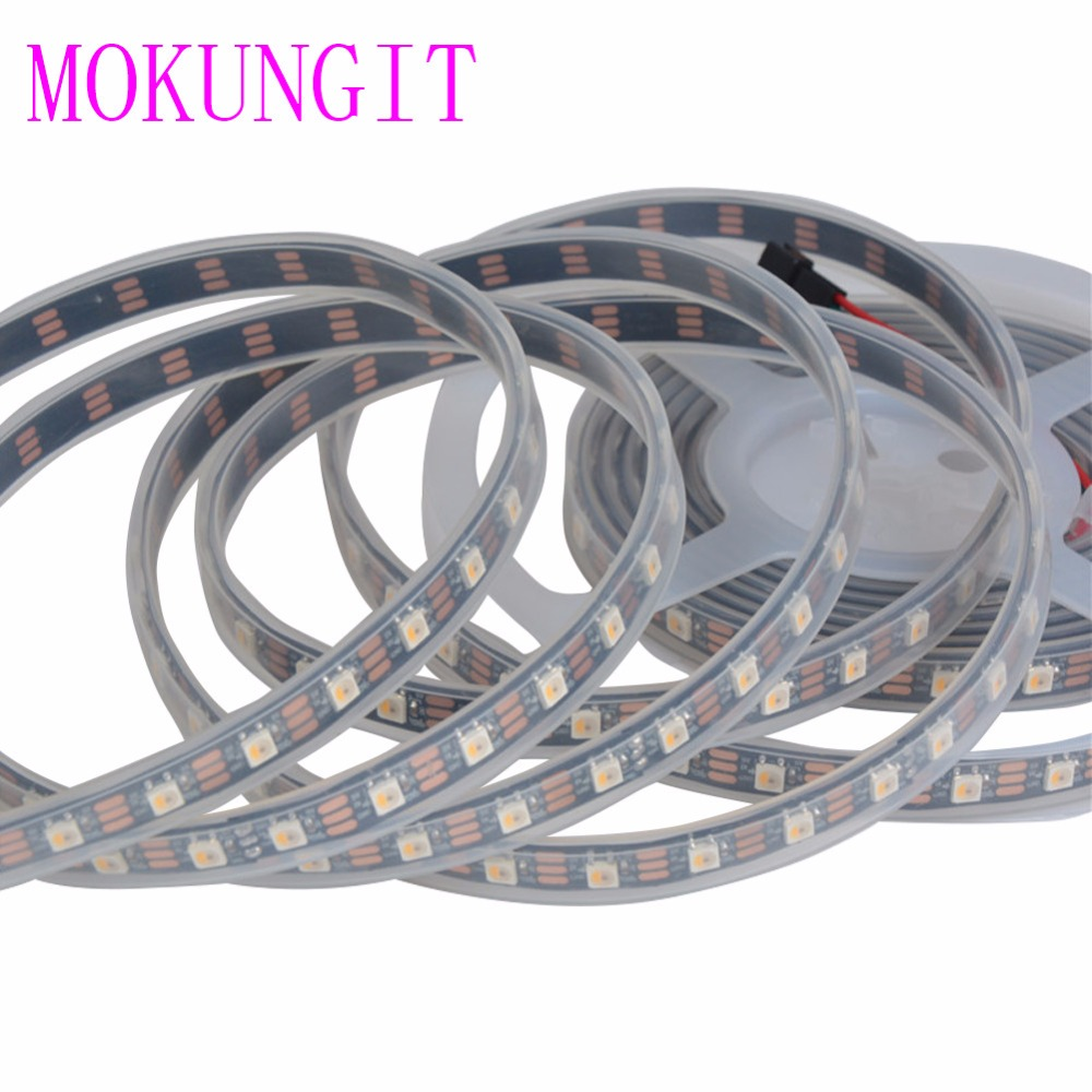5M SK6812 RGBW (similar ws2812b) 4 in 1 30/60/74/96 leds/pixels/m;individual addressable led strip IP30/IP65/IP67 DC5V