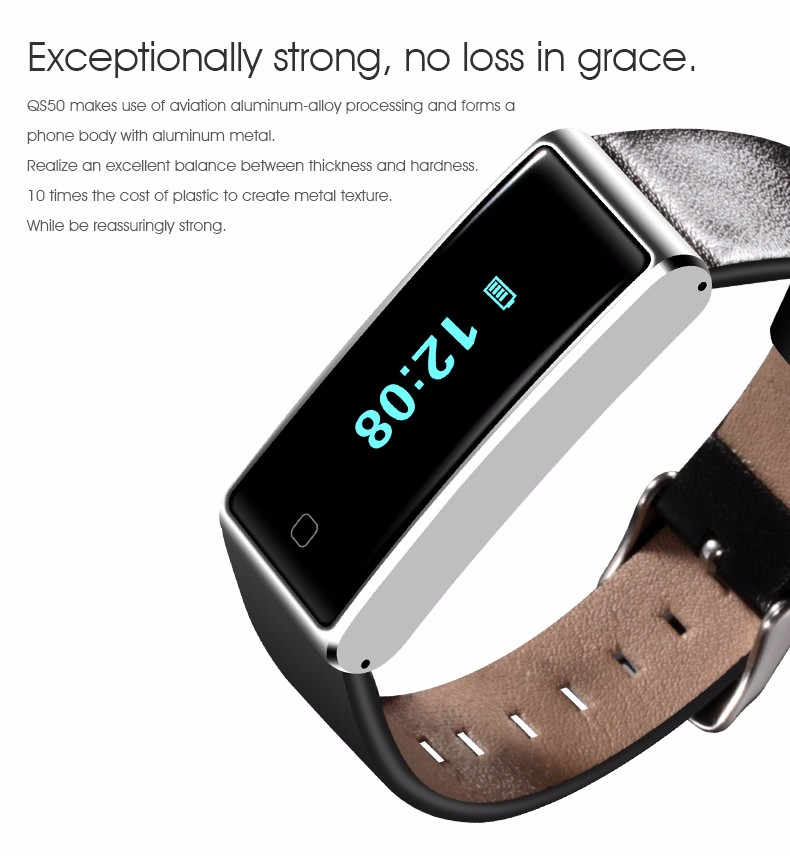 QS60 Heart Rate Measure Smart Wristband Bracele twith Breath Training Pedometer Sleep Tracker Smart Wrist Band with Touch Screen (6)