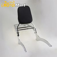 Chrome Motorcycle Backrest Sissy Bar + Luggage Rack For Yamaha V Star V Star XVS 1100 Classic 2000 2011 2002 2003 2004 2005 2006