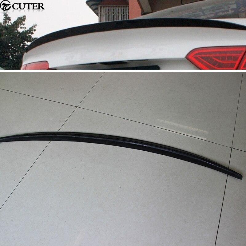Aileron d'aile arrière de voiture automatique en fibre de carbone A5 Sportback pour Audi A5 Sportback 12-16