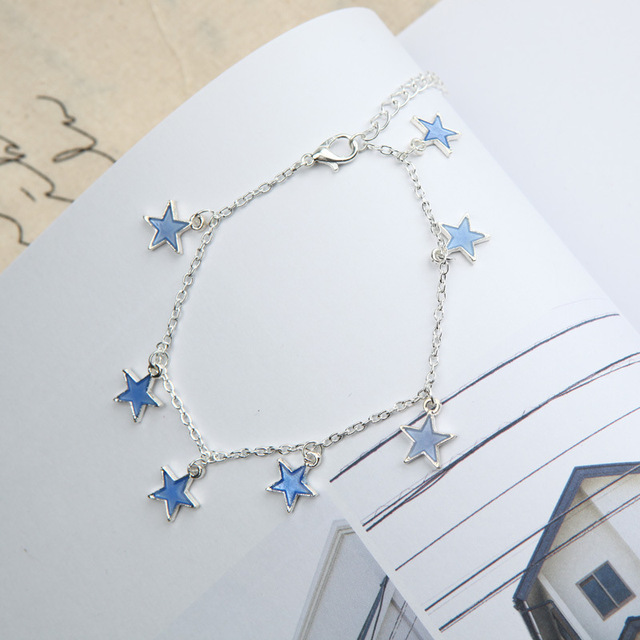 Luminous Beach Wind Blue Pentagonal Star Tassel Ankle 3