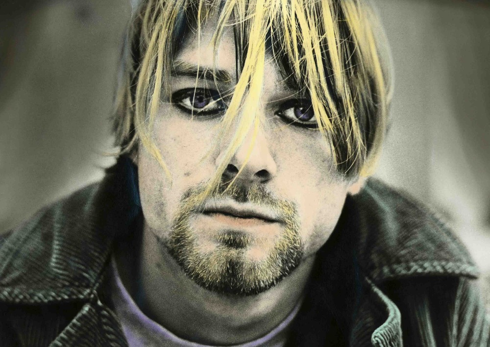Kurt Cobain Short Hair Poster 33 In Wall Stickers From Home