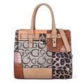 2017 New Patchwork Women Messenger Bags Designer Handbags High Quality Pu Leather Tote Bag Ladies Floral Print Leopard Bag B081