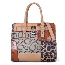 ARMELLE 2017 New Leopard Women Shoulder Bags Designer Handbags Female Large Tote Bag Ladies Floral Print Patchwork Bag B081