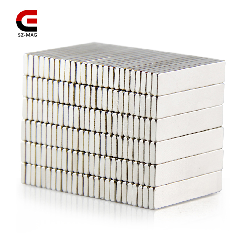 100pcs 50pcs 25pcs 25x5x1.5mm Permanet Customizable magnet Strong Rare Earth Bar Neodymium Magnets N50 slices