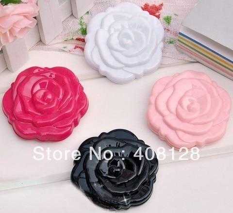 Frete gr tis 3D Rose Forma Compacta Cosmtic Espelho Menina Bonito Espelho de Maquiagem 100