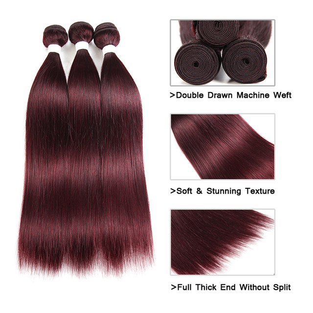 Brazilian Remy Human Hair Weave Bundles Straight Human Hair Extension