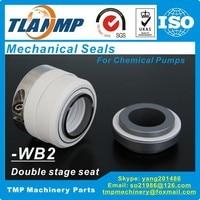 WB2-55 WB2/55 PTFE körüklü mekanik contalar korozyona dayanıklı kimyasal pompalar çift aşamalı koltuk (SiC/siC/PTFE)