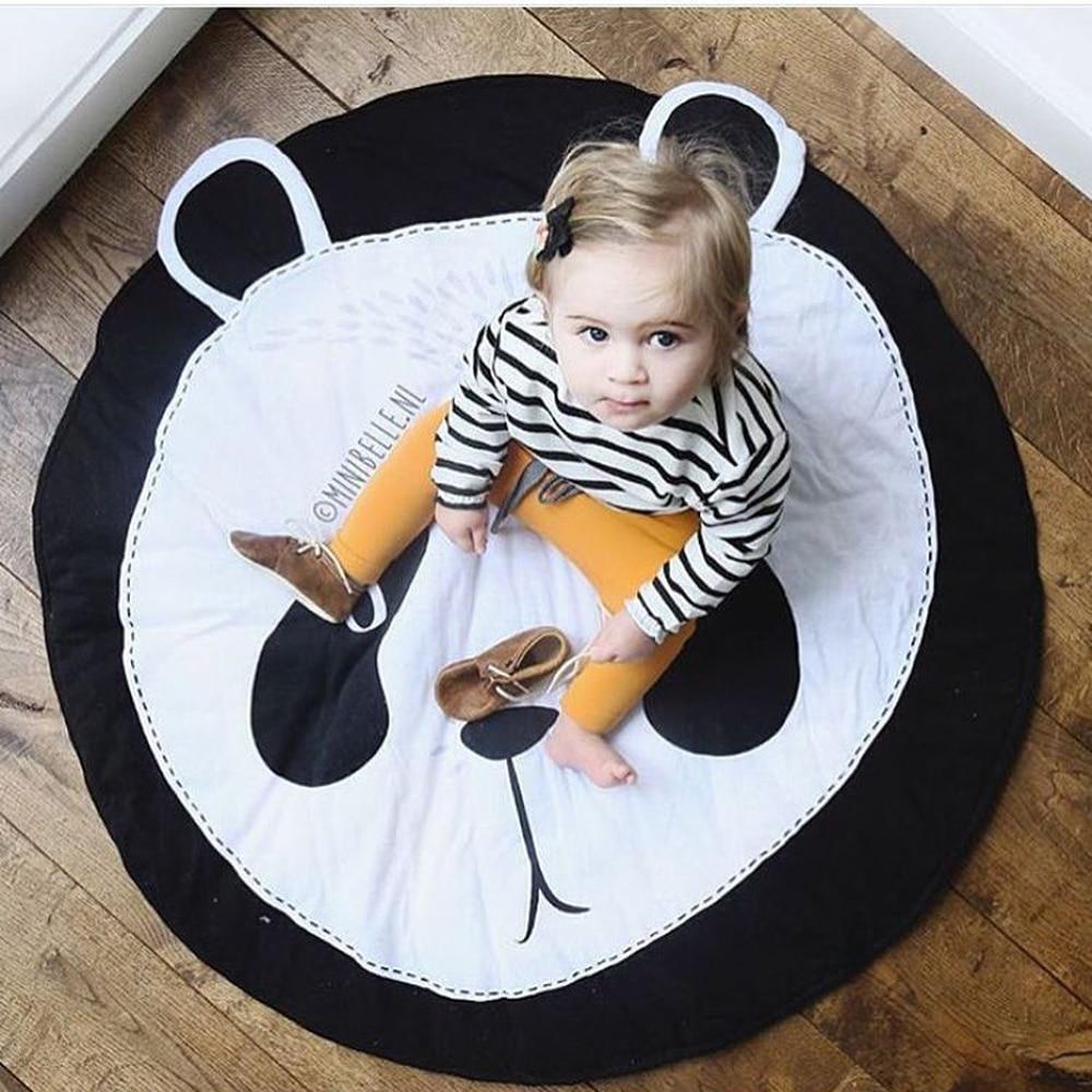 Tapis de jeu pour bébé tapis pour enfants chambre Panda Animal doux coton tapis rampant tapis de sol rond tapis de jeu pour bébé tapis de Gym