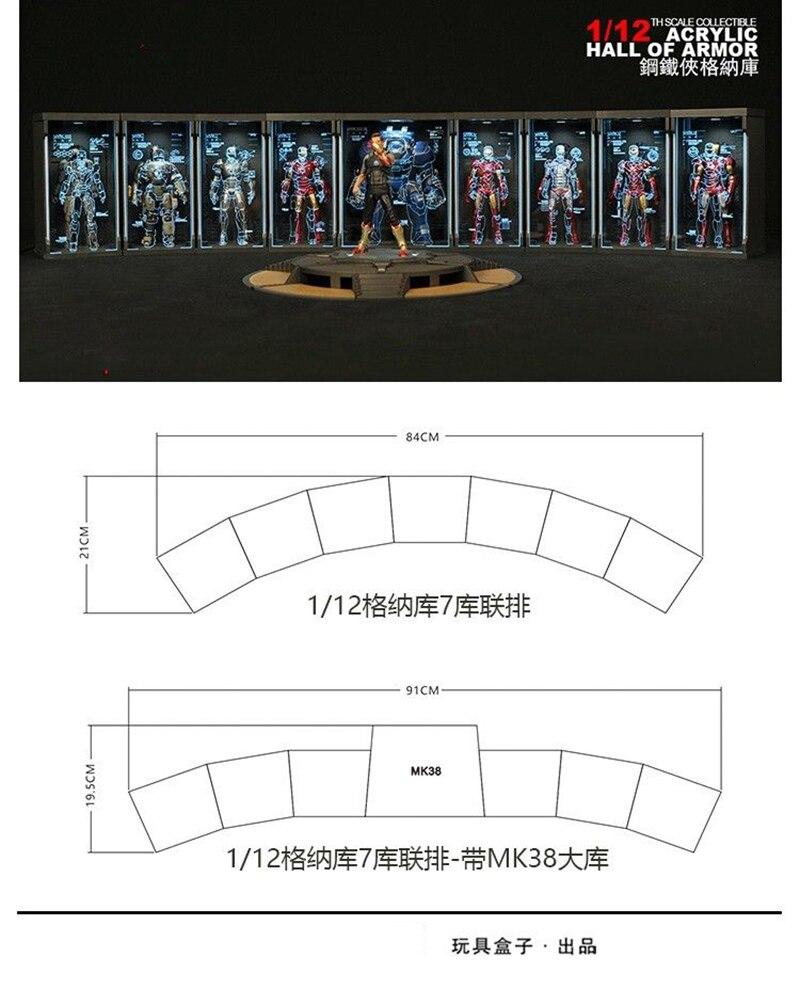 "Toys-Box Comicave 6/"" SHF Acrylic Hall of Armor Display Case F MK43 Iron Man 1//12"