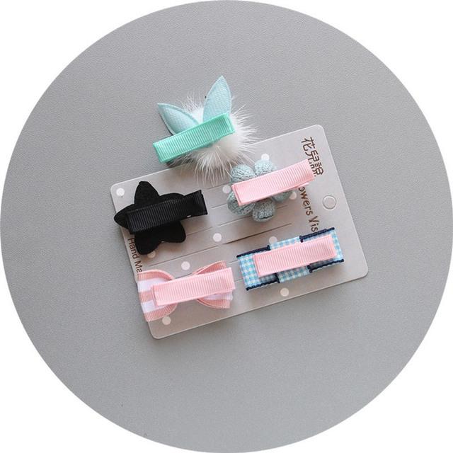 sweet! baby girl hair accessories clip cute bow motifs hair clip kawaii baby girls headwear barettes 30ST10