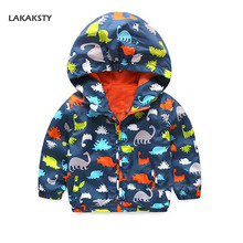 LAKAKSTY Baby Jackets Cool Dinosaur Hooded Outerwear For Boy