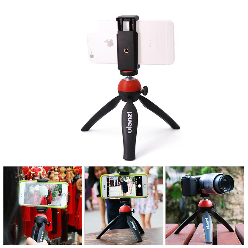 Mini Portable Tripod Stand Mount with Holder Desktop Self-Tripod for iphone 7 plus Android Smartphone
