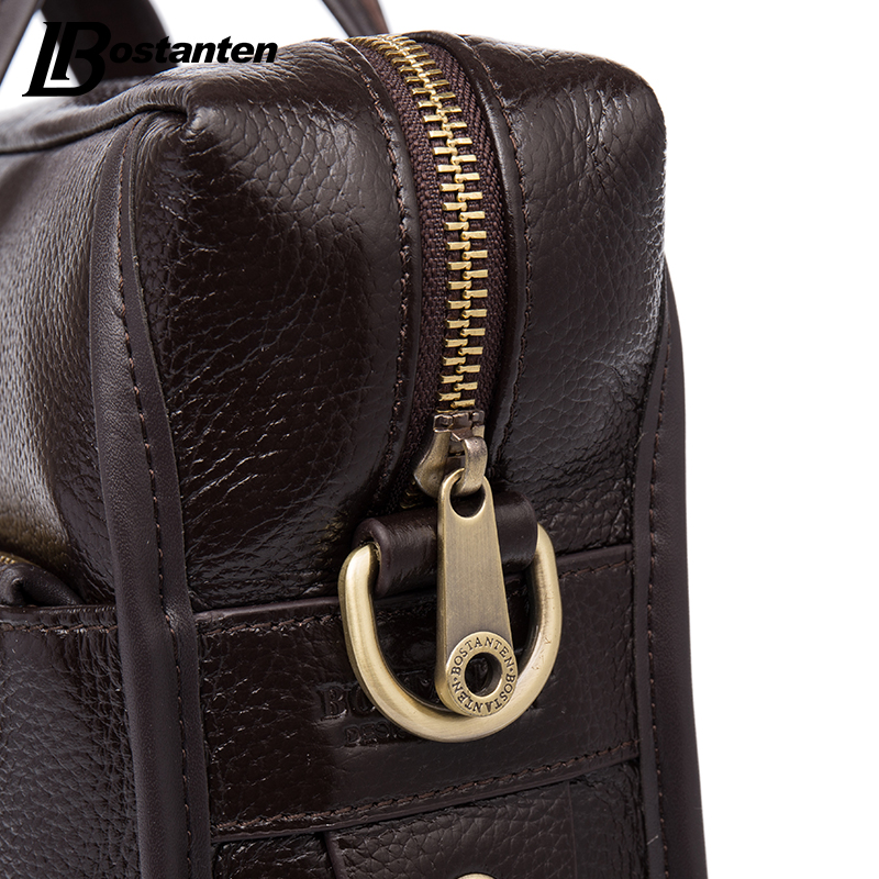 Image 4 - Bostanten 2019 New Fashion Genuine Leather Men Bag Famous Brand Shoulder Bag Messenger Bags Causal Handbag Laptop Briefcase Male-in Briefcases from Luggage & Bags