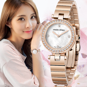 PAGANI DESIGN Fashion Brand Silver And Gold Full Steel Creative  Wristwatch Casual Women Quartz Watches Gift relogio feminino