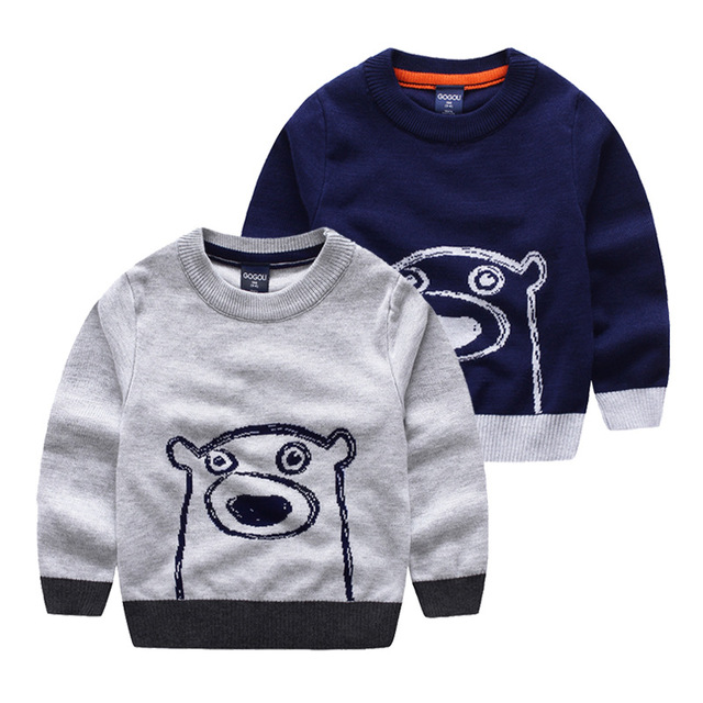 New 2016 Spring Bobo Choses Girl Boys Sweater Baby Girls & Boy sweater Kids Boutique Knitted Cartoon Bear sweater