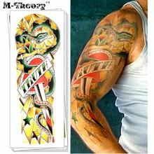 M-Theory Full Sleeve Temporary Makeup 3d Tattoos Sticker Henna Tatouage Tatto Body Art Tatuagem Flash Tatoos Sticker Makeup Tool