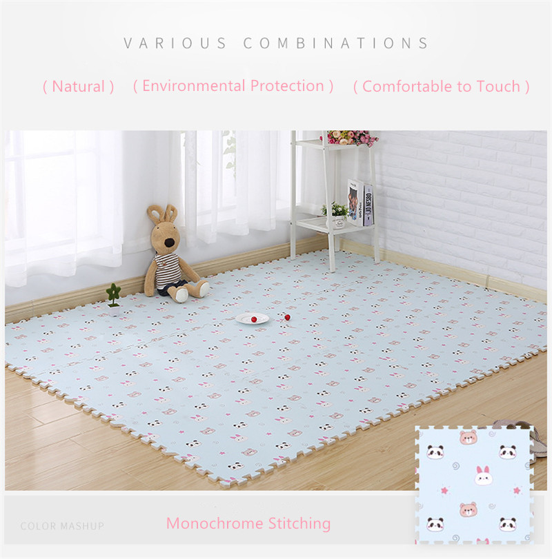 HTB1LJSCaBCw3KVjSZFlq6AJkFXaI EVA Foam Children's Mat Split Joint Baby Play Mat Puzzle Cartoon Panda Patterns Soft Floor Carpet For Baby Crawling Exercise