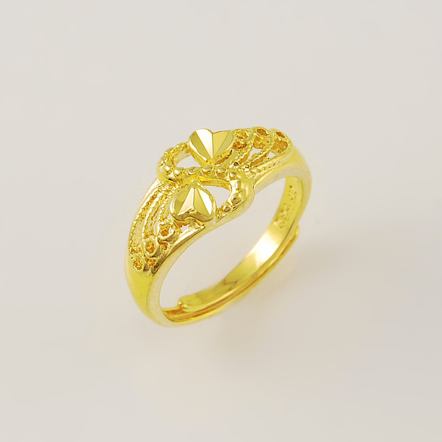 f9db80b8938 New genuine 24K gold ring JR033 simple and stylish ultra-low-cost wholesale  Elegant