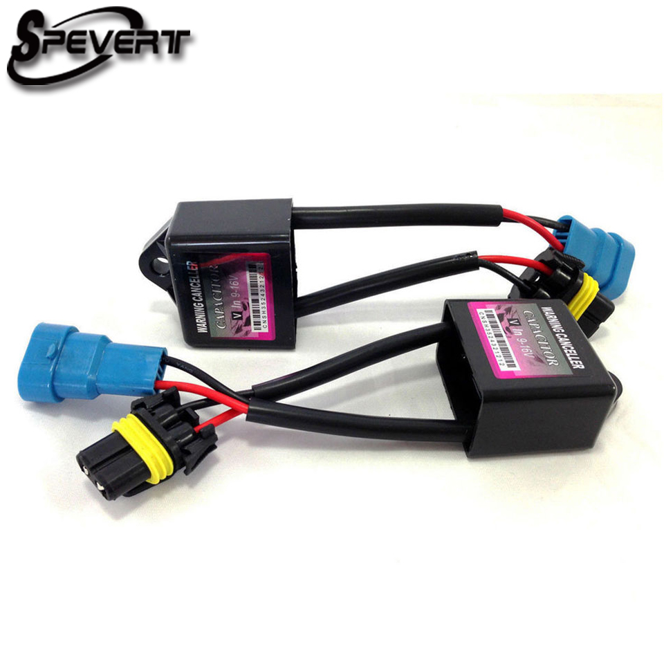 SPEVERT Canbus Decoder Harness HID Xenon Light Ballast Decode Device Anti Flicker Error Xenon HID Warning Canceller Capacitor c7 hid can bus car xenon light error warning canceller decoder capacitor canbus capacitors computer decoder
