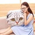 Большой размер Творческий 3D кошка подушка Мультфильм декоративные плюшевые игрушки милые Подушки Можно Стирать Талии Подушка девушка дети рождественские подарки
