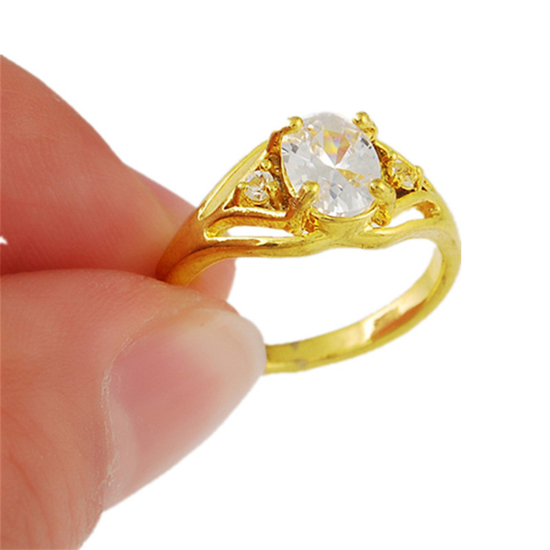 Andara High Quality Fashion Lady Gold Finger Ring Yellow Gold ...