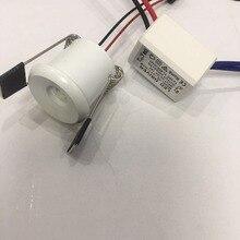 4pcs/lot AC110V 230V diameter 30mm power Led Cabinet white mini Spot light  1W Include Driver AC85-265V Mini downlight