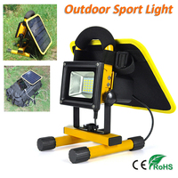 Solar Power Spotlight Yellow Waterproof Outdoor Lamp Street Light Can charge your phone separately