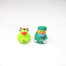 2pcs Cute Bath Bathing Classic Toys Rubber Race Yellow duck floating swimming