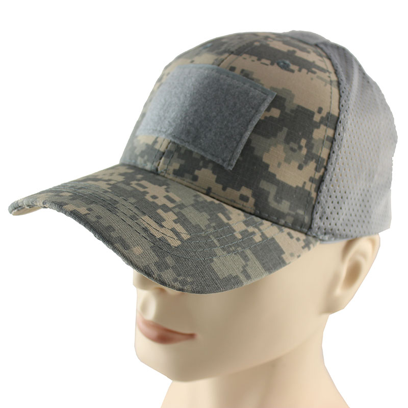 Summer Breathable Mesh Tactical Army Cap Hook And Loop Badge Patch Camo Hats  For Men Women Bone Desert Digital ACU Camouflage -in Baseball Caps from  Apparel ... 9c4368f6f9