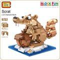 Ideas del bloque de diamante loz ice age scrat la ardilla vertical fruta animales bloques de construcción juguetes modelo micro bircks diy juguete divertido 9732
