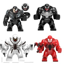 Single Sale Venom Carnage Spider Man Legoingly Figure Marvel Super Hero Building Blocks Set Model Toys