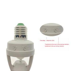 Image 2 - Hot AC 110 220V 360 Độ PIR Cảm Ứng Cảm Biến Chuyển Động Hồng Ngoại Con Người E27 Cắm Công Tắc Ổ Cắm Chân Đế bóng Đèn Led Bulb Ánh Sáng Đèn Giá Đỡ