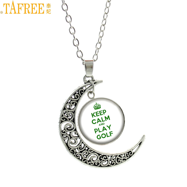 Tafree keep calm and play golf pendant statement necklace for men tafree keep calm and play golf pendant statement necklace for men women golf player top fashion aloadofball Choice Image